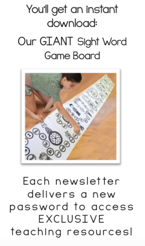 Giant Never-Ending Sight Word Game Board (free!)