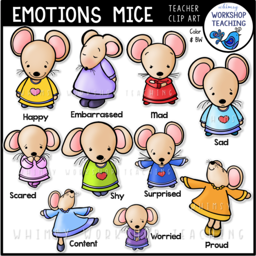 Emotions Mice Clip Art