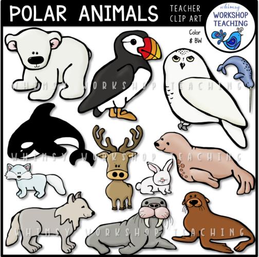 Polar Animals Clip Art