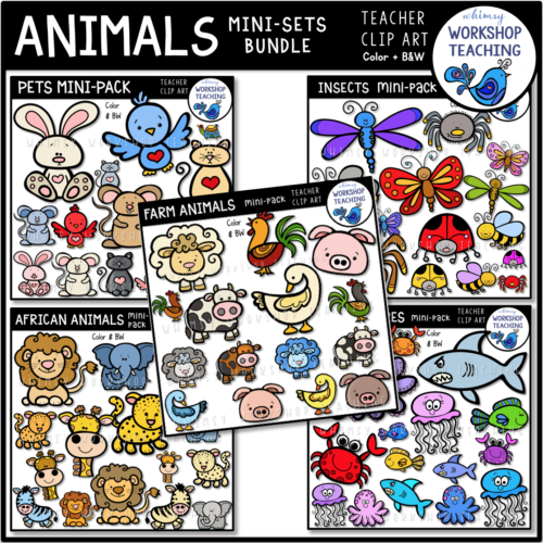 Animals Mini Sets 5 Pack