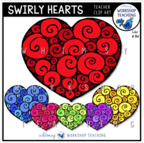 Valentine Swirly Hearts
