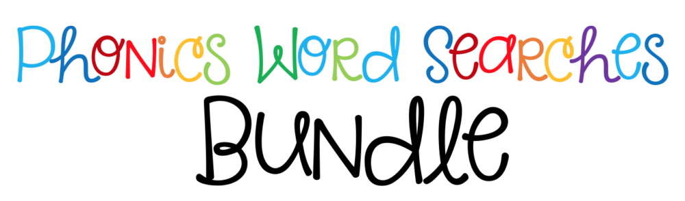 Phonics Word Searches Bundle header