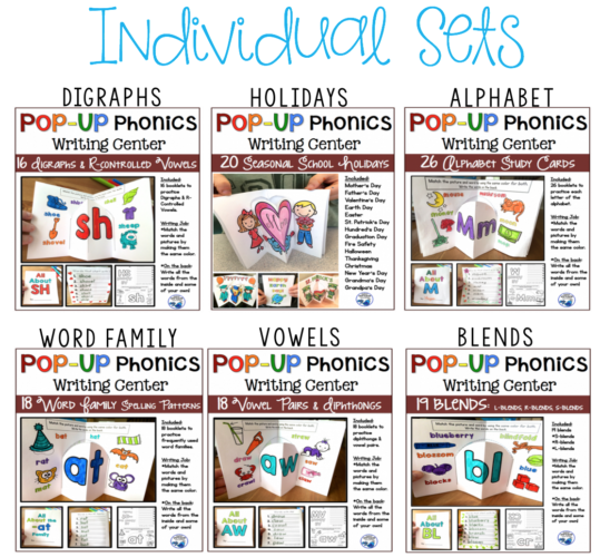 pop up phonics sets