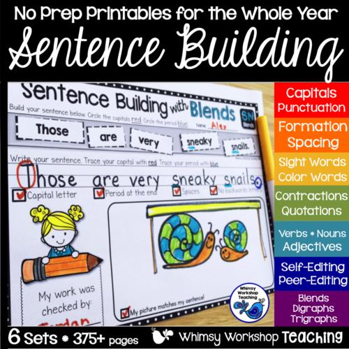 Sentence Building 6Pack Bundle