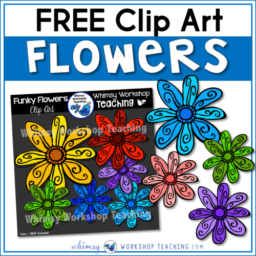 Free Funky Flowers Clip art SET!