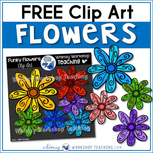 Free Funky Flowers Clip art SET!