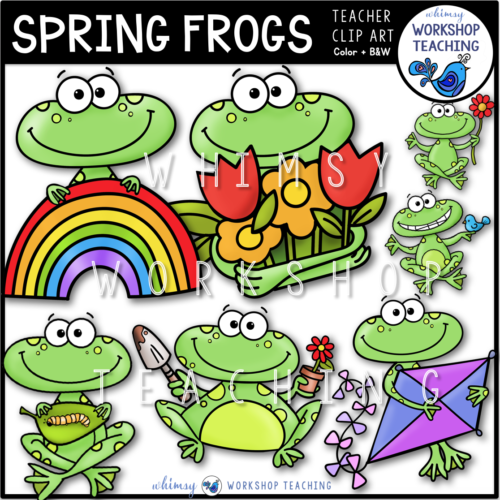 Spring Frogs Clip Art