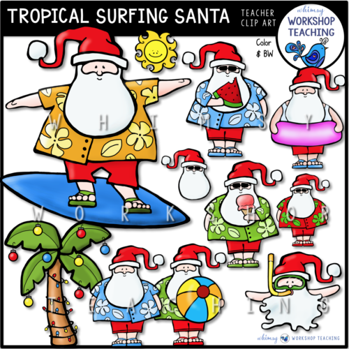 Tropical Surfing Santa WWT