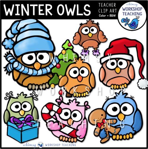 Winter Owls Clip Art WWT