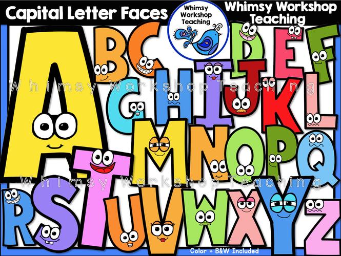 Alphabet Capital Letter Faces