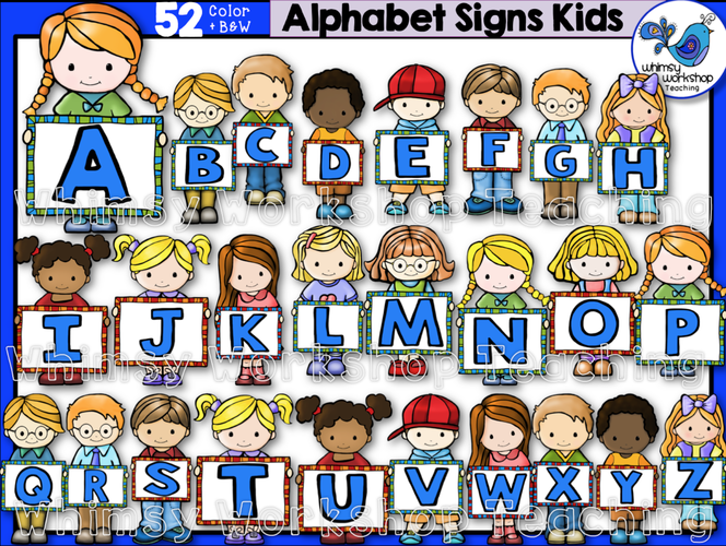 Little Kids Alphabet Signs