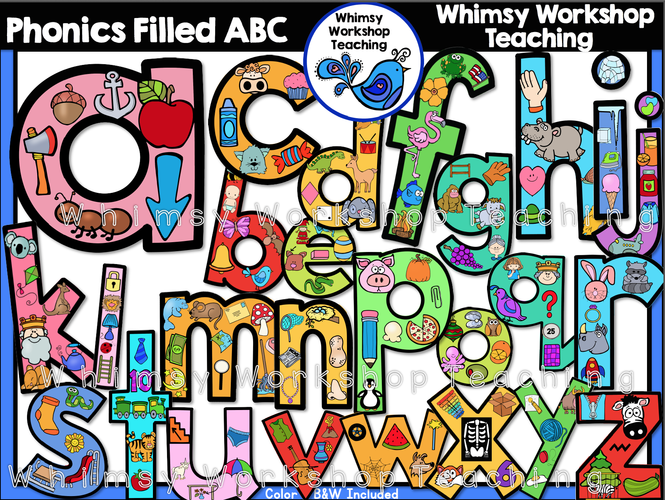 Alphabet Phonics-Filled ABC