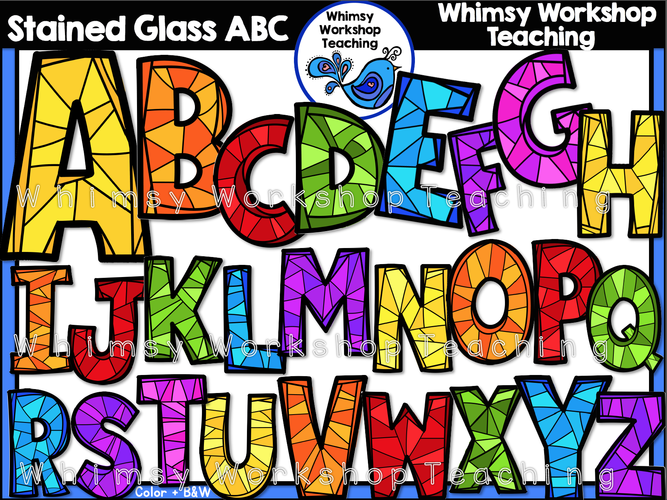 Stained Glass ABC