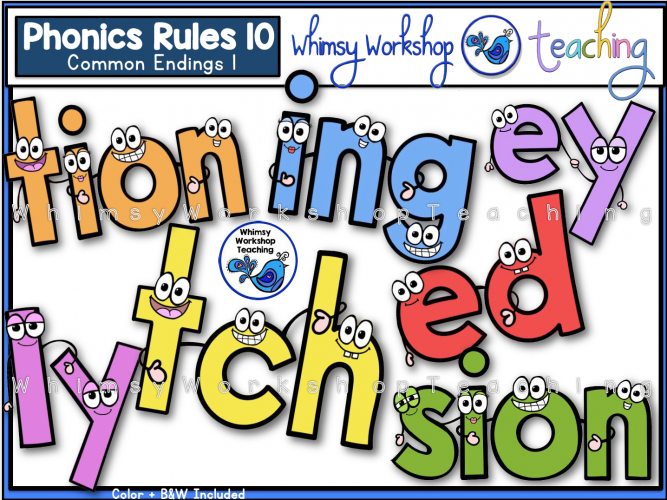 Phonics Rules 10 Common Endings
