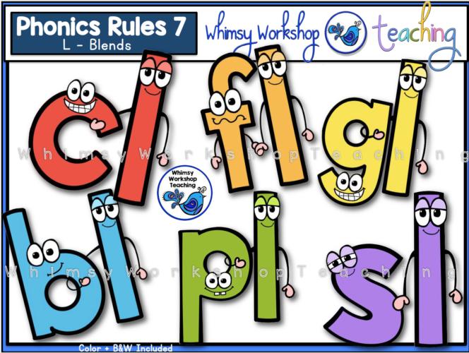 Phonics Rules 7 - L blends