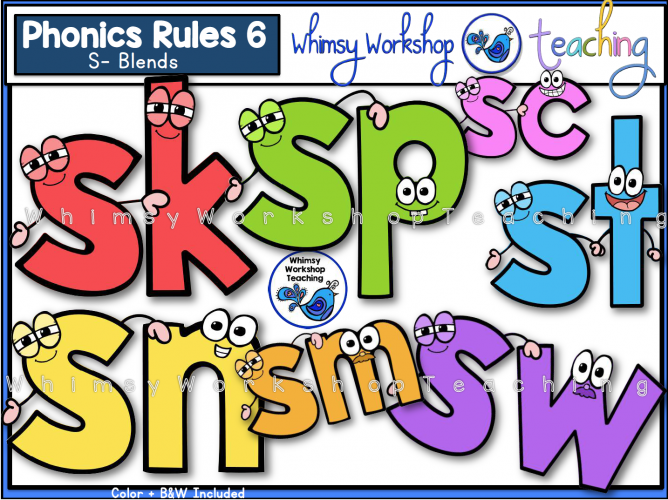 Phonics Rules 6 S blends