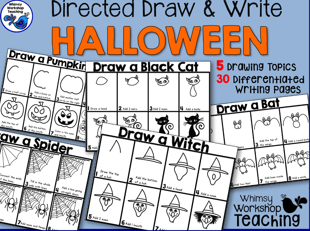 Halloween Directed Drawings.Directed Draw Write Halloween Whimsy Workshop Teaching