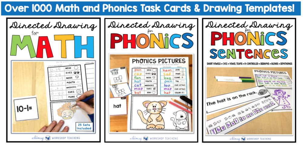 directed drawing for math and phonics