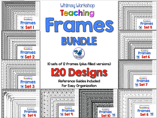 Whimsy Workshop Frames Bundle - 120 Designs