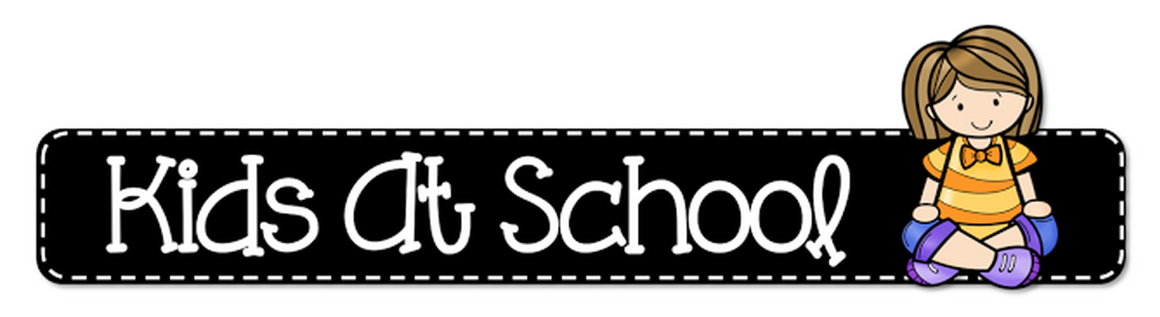 Header Clipart Kids At School