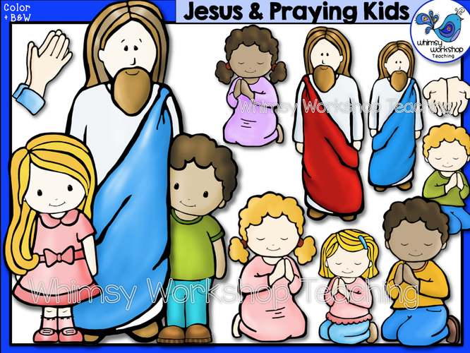 Jesus Praying Kids