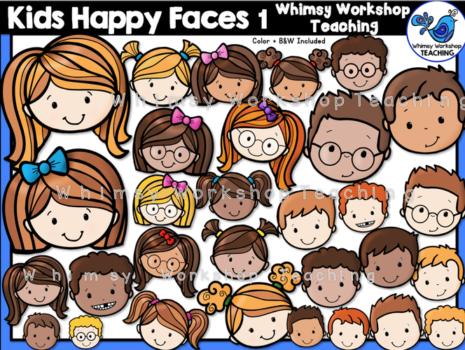 Little Kids Happy Faces 1