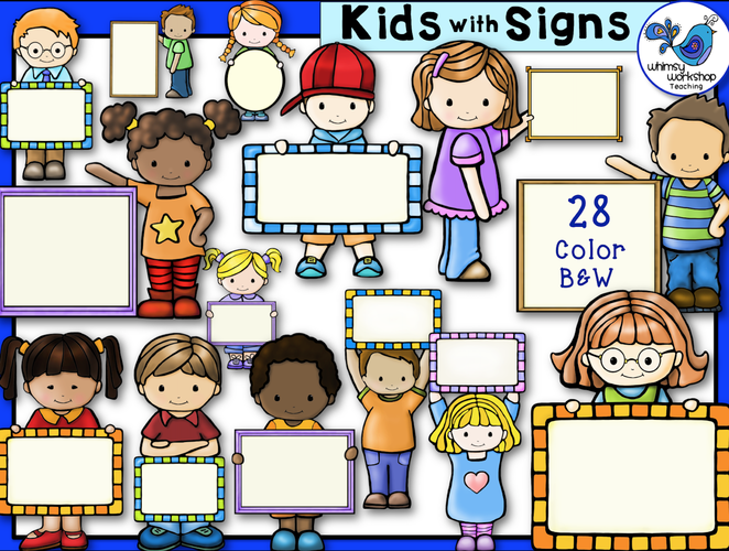 Little Kids With Signs