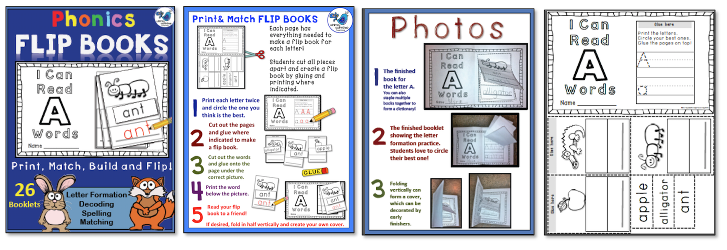 Phonics Flip Books