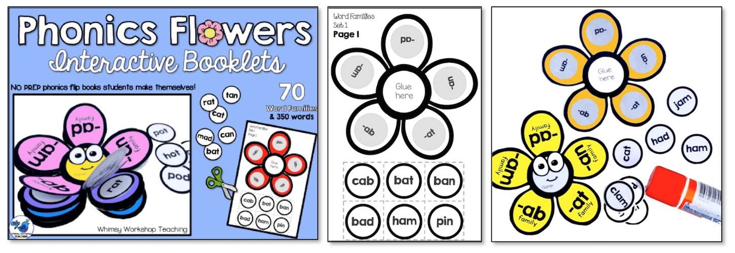 Phonics Flowers Interactive Booklets
