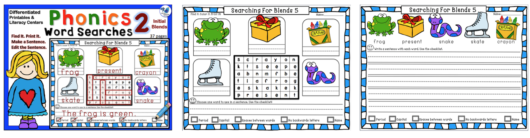 Phonics Word Searches 2