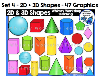 Set 4 - 2D/3D Shapes
