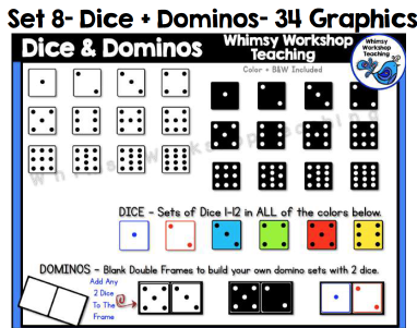 Set 8 - Dice and Dominos