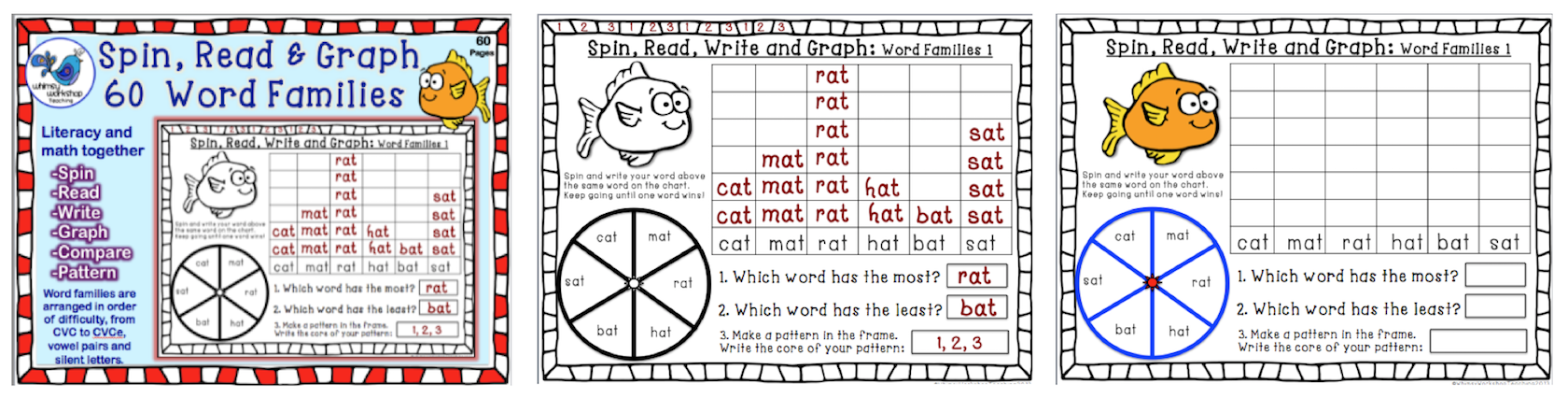 Spin, Read, Graph 60 Word Families