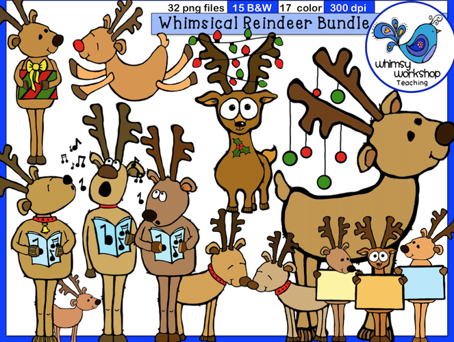 Whimsical Reindeer Bundle