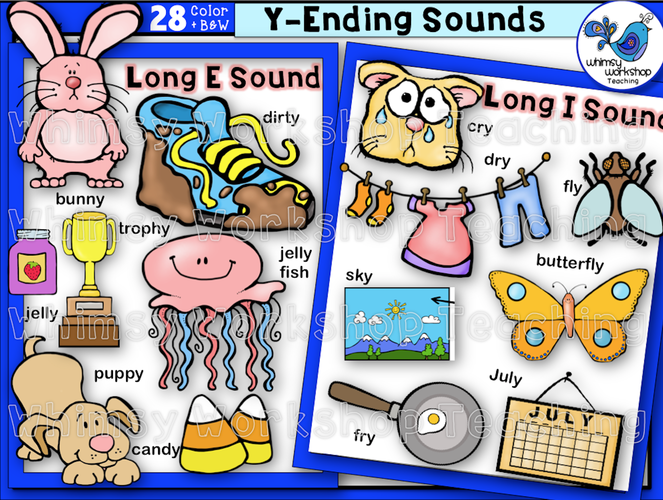 Phonics Y-Ending Sounds