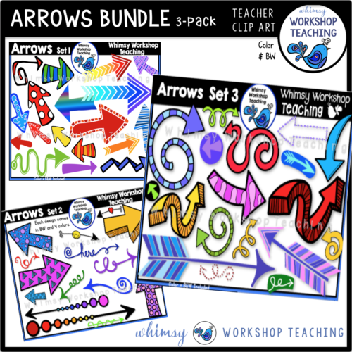 Arrows Clip Art Bundle Whimsy Workshop Teaching