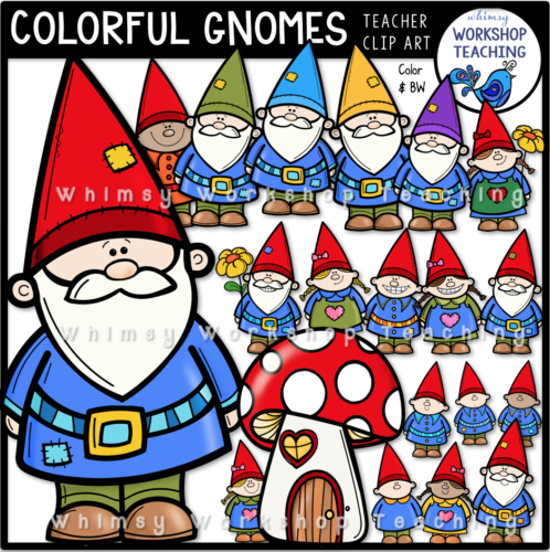 Colorful Gnomes Clip Art Whimsy Workshop Teaching