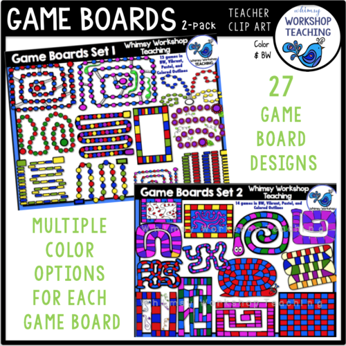 Game Boards 2 Pack Clip Art Whimsy Workshop Teaching