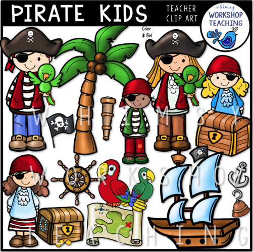 Pirate Kids Clip Art WWT