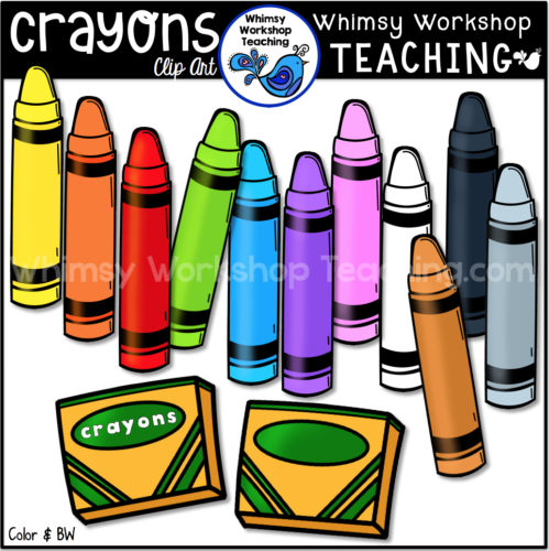 Crayons Clip Art pack