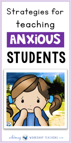 This is a list of practical strategies to think about when working with anxious students in order to ease anxiety and help them feel comfortable enough to focus on their work.