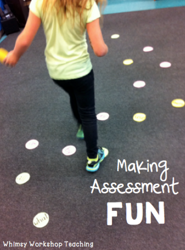 making assessment fun - sight word jumping