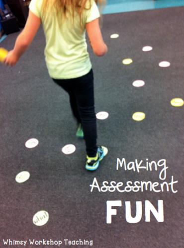 making assessment fun - sight word jumping