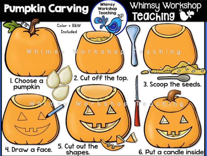Pumpkin Carving clip art set
