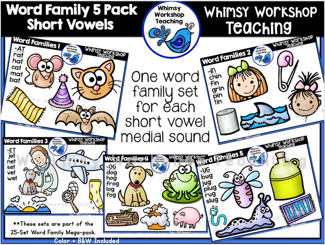 Word Families 5-pack Short Vowels