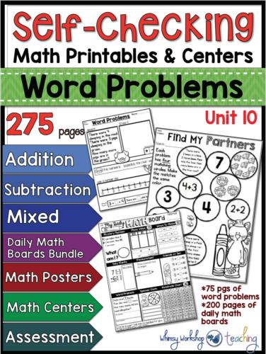 Word Problems Unit 10