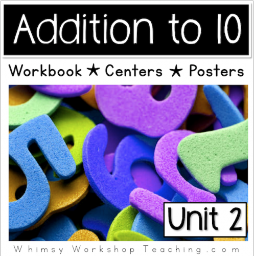 A comprehensive collection of math addition to 10 printables, reference posters and hands on centers
