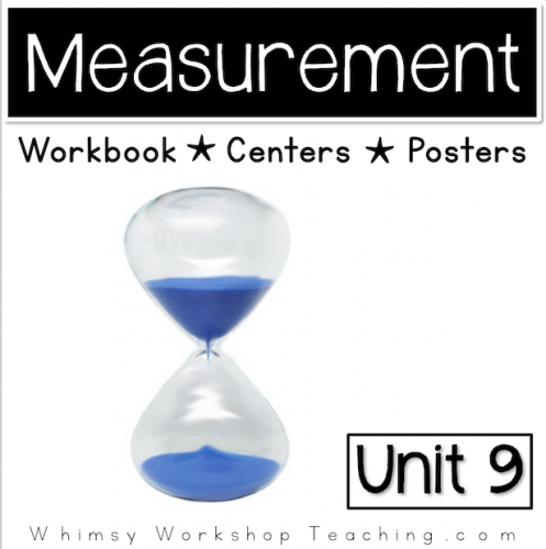 A comprehensive collection of math printables focusing linear measurement, time and money