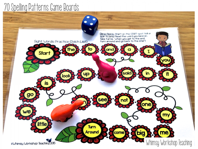 Use game boards during your literacy centers to reinforce those spelling patterns and phonics rules! Easy, independent and interactive fun - and no prep for the whole year! Read about how we use them and grab a free spelling pattern assessment pack.