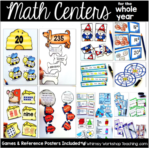 Mat Center For the Whole Year includes 10 units and 925 pages of printable centers to use through the year.